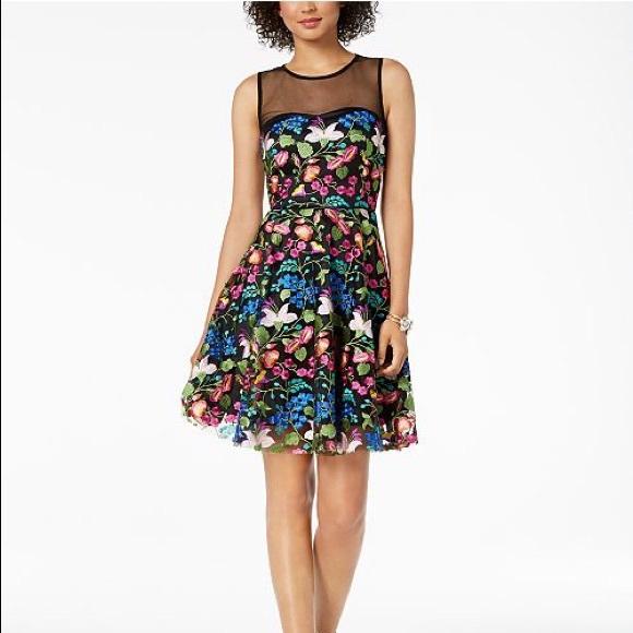 c307540d05fb Tahari Dresses | Asl Plus Size Embroidered Illusion Dress | Poshmark